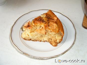 Яблочный кекс с мёдом и корицей