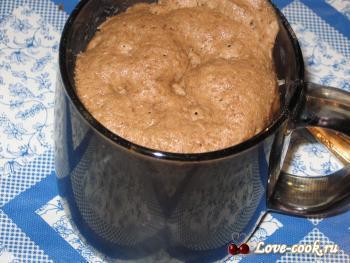 Бисквит в чашке за 3 минуты