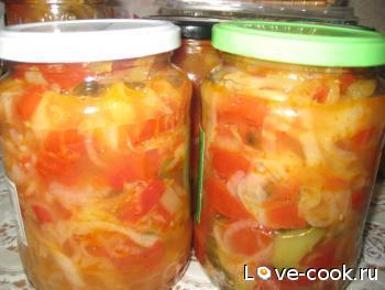 Салат из грибов огурцов и помидоров